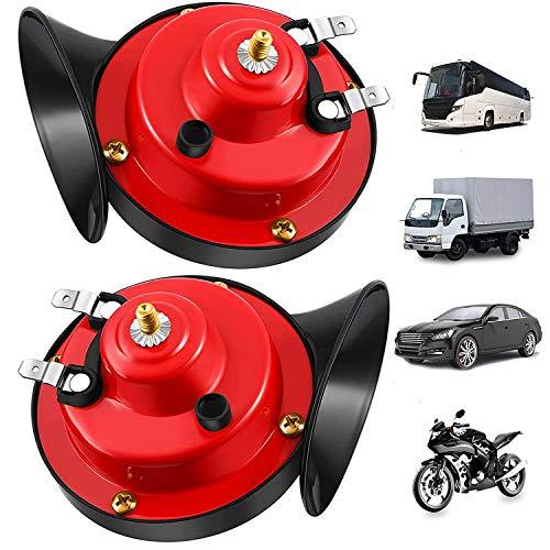 12V Train Horns for Trucks, Loud Air Electric Snail Horn, 300db Waterproof Train Horns Kit FOR for Motorcycles (2PCS)