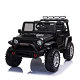 TOBBI 12V Ride On Truck, Electric Vehicles Ride On Car for Kids w/ Remote Control, Music, MP3 Player, Bluetooth, Black