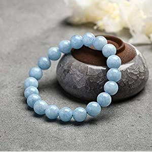 Natual Aquamarine Bracelet - Bring Positive Energy - Peace - Youthfullness