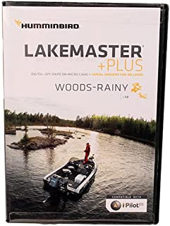 Humminbird Lakemaster Plus Woods-Rainy Edition Digital GPS Lake and Aerial Maps, Micro SD Card, Version 1
