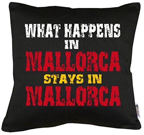 TShirt-People Whats Happen in Mallorca. Cojín con Relleno de 40 x 40 cm.
