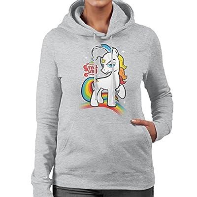 Women's My Little Pony Rainbow Brite Mashup Grey Hoodie