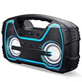 AOMAIS 25W Bluetooth Speakers with HD Stereo Sound & Deep Bass, Portable Outdoor Wireless Stereo Pairing Speaker, IPX7 Waterproof, Built-in Mic, 100ft Bluetooth Range for Party, Camping, Travel-Black