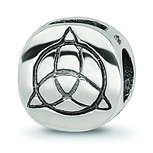 Sterling Silver Reflections Celtic Trinity Bead | Polished | Antique finish | Sterling silver
