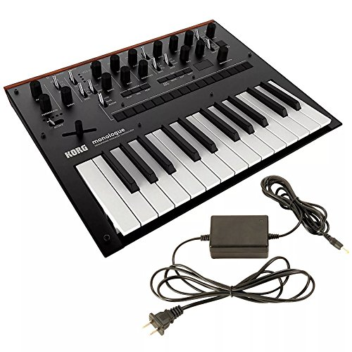 Lowest Price! Korg Monologue Monophonic Analogue Synthesizer Black w/FREE Power Supply