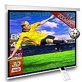 SlenderLine Schermo Proiezione Motorizzato 200x200cm Formato 1:1 con radiocomando per installazione a parete o...