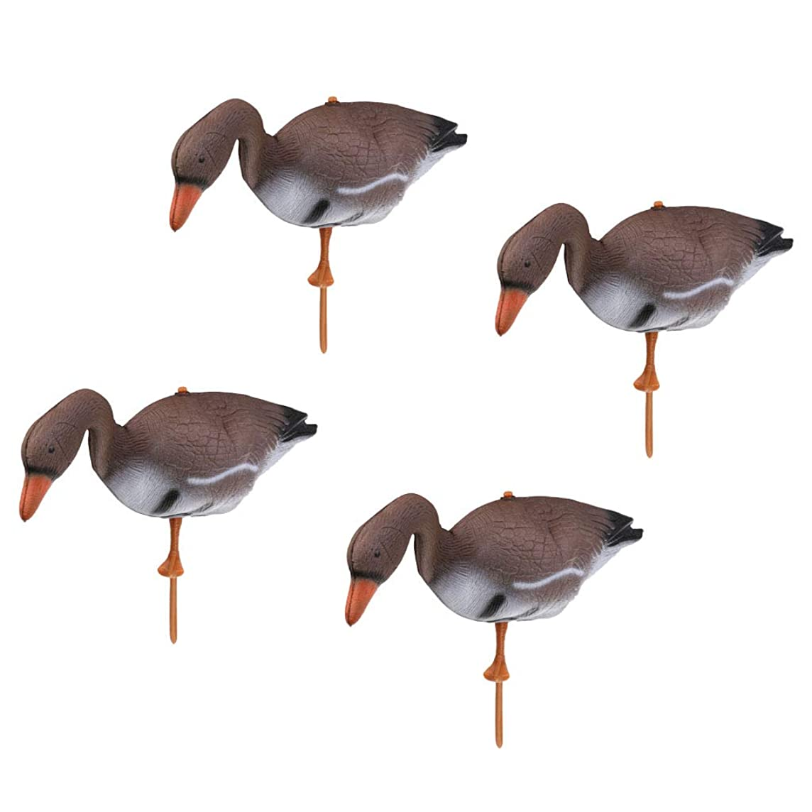 DYNWAVE Artificial Swan Decoy Pond Decoration Floating Ornamental Bird Garden Yard Scarecrow, Pack of 4