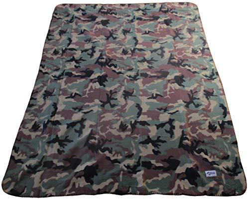 Commando Industries Kuschlige Flauschige Army Style Picknick Decke Outdoordecke 140 * 190cm (Woodland)