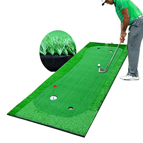 Putting Green Mat, Puttout Pro Golf Putting Mat, Mini Golfing Man Indoor Golf Game,Suitable for Indoor and Outdoor Gardens, The Best Golf Game.