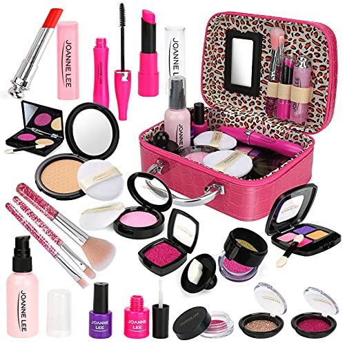 CestMall 21 Stück Kinder Make-up Kit für Mädchen, Girls Spielen so tun, als ob waschbares Make-up Spielzeugset mit Kosmetiktasche, sicher und ungiftig, für Kinder Spielen Spiel Halloween Weihnachten