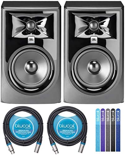 JBL Professional 305P MkII Next Generation 5 2 Way Powered Studio Monitors 2 Pack Bundle with product image