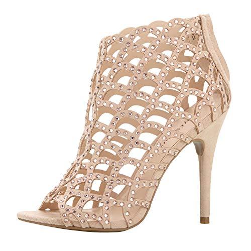 ZIGI SOHO Women's Duran Heeled Sandal, Cinnamon Suede, 7.5 Medium US
