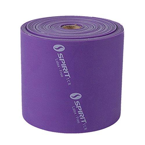 Spirit - Fascia Elastica per Fitness, 18 kg, Senza Lattice, Rotolo da 22,8 m