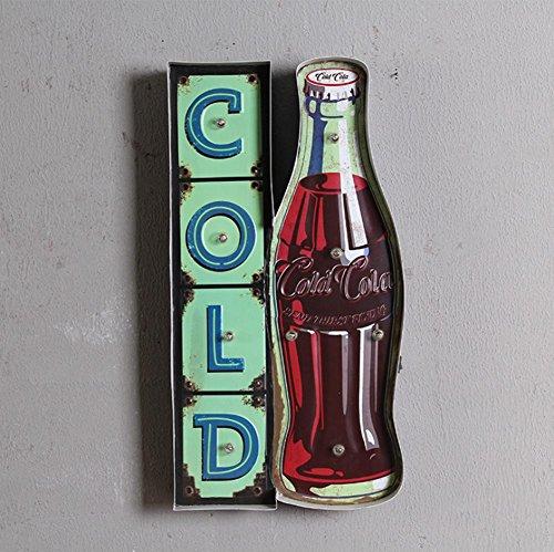 Coca Cola Flasche Modellierung LED Antik Eisen Lampenschirm Mauer Lampe Stab Korridor Dekoration Lampe Lampen Lampe 55cm * 5 cm * 30 cm