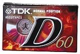 TDK Audio Tape D C-60 Audio Cassette 60 min 1 Pieza(s) - Cinta de Audio/Video (60 min, 1 Pieza(s))