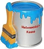 alles-meine.de GmbH Spardose - Farbtopf mit Pinsel -  Heimwerker Kasse  - blau - stabile Sparbüchse aus Kunstharz / Polyresin - Sparschwein - für Kinder & Erwachsene / lustig w..