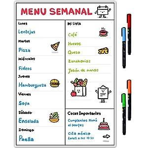 Planificador de la dieta semanal para menús de comidas: Amazon.es ...