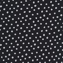 Cloud9 Organic Interlock Knit Dots Black/Gray Fabric by the Yard