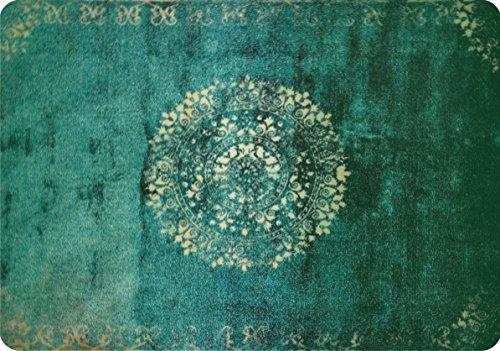 deco-mat Fußmatte Orient Grün • Fussmatte Innen Aussen • rutschfest und waschbar • Schmutzfangmatte • Türmatte 40 x 60 cm
