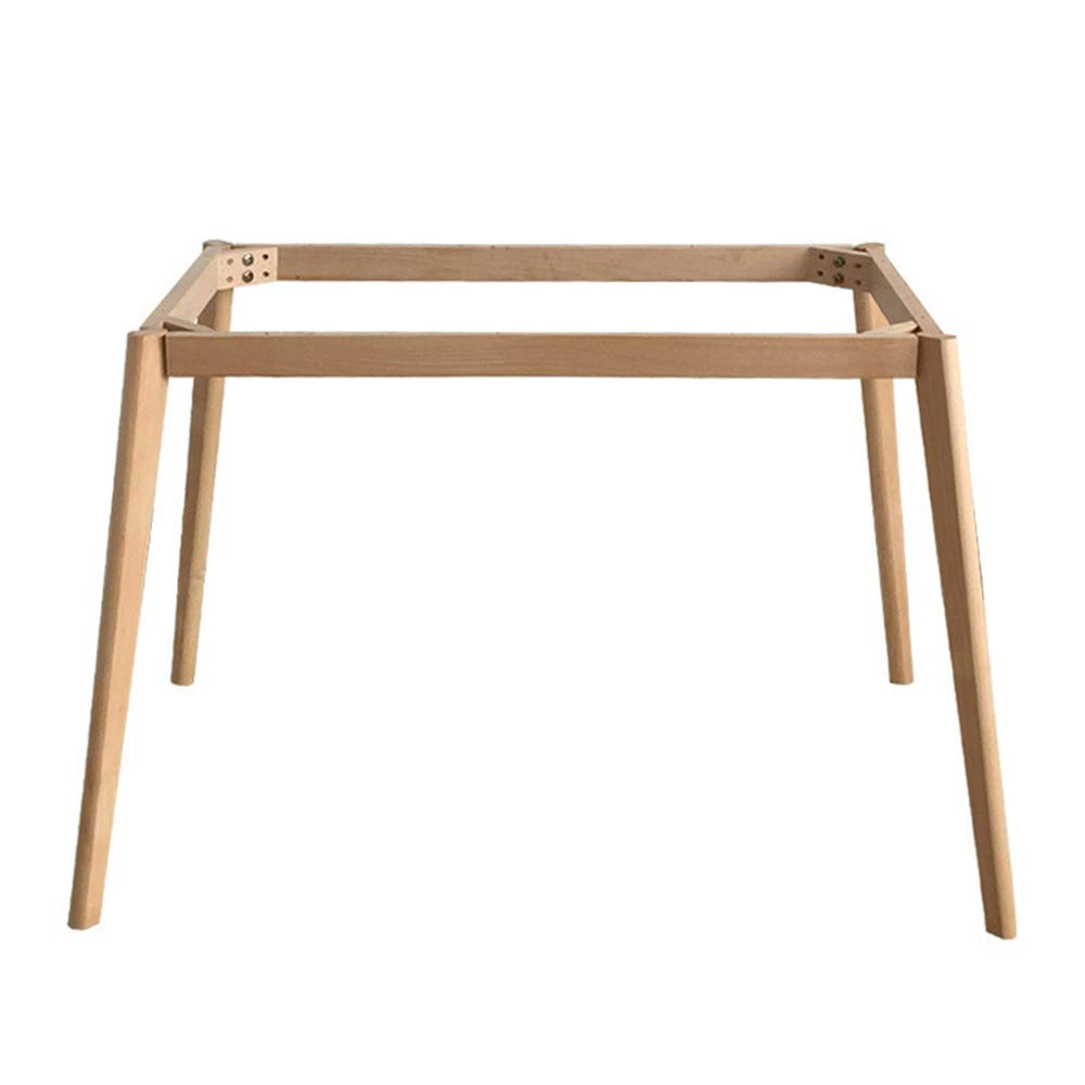 Nordic solid wood table legs frame 8 * 8cm high 8cm furniture