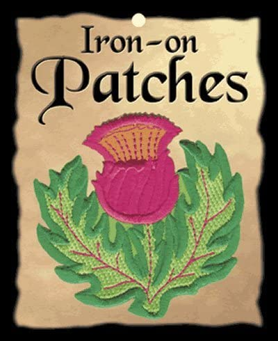 Thistle Year-end annual account Iron-on Import Patch Embroidered