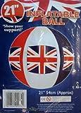 PMS 21 ' Union Jack Infl Fußball mit Bedruckter Einsatz