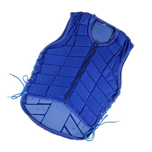 sharprepublic Chaleco Protector para Eventos Ecuestres de Seguridad para Jóvenes/Adultos Chaleco para Montar a Caballo - Cielo Azul-S