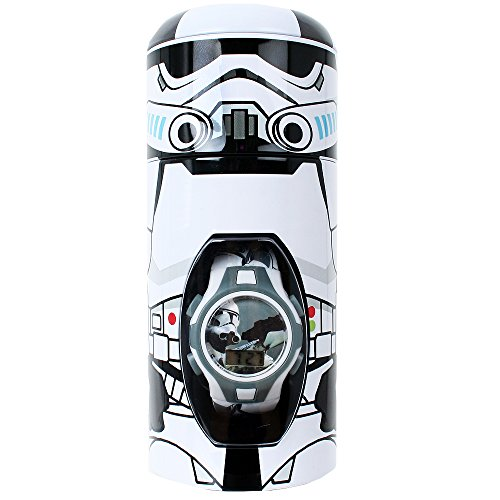Star Wars Digitaluhr Armbanduhr Metalldose Stormtrooper Kinderuhr