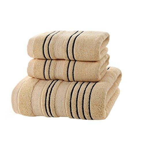 Buoqua - Set di asciugamani da bagno in cotone
