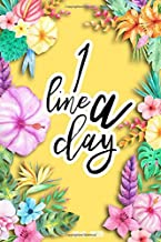 One Line A Day: 2019 Planner Weekly And Monthly Calendar Daily Organizer With Minimal Floral Cover | Volume 17