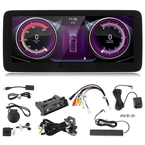 10.25 pulgadas Navegación GPS para automóvil Reproductor multimedia Pantalla IPS NTG5.0 WiFi Apto para Be-nz Clase C GLC C205 W205 S205 C253 14‑18(Qualcomm 8953 (4 + 64G))