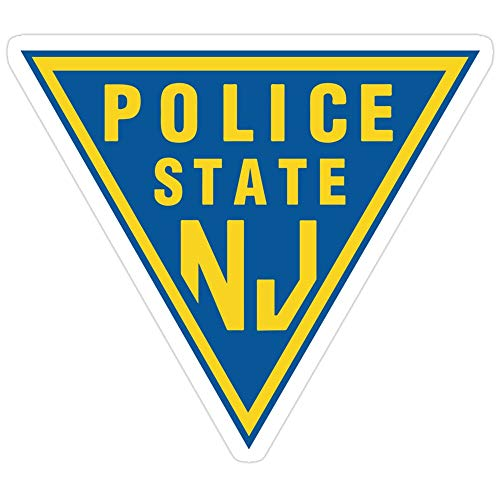 Big Lens store Police State (NJ) Stickers (3 Pcs/Pack)