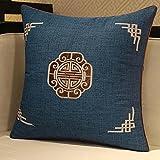 Almohada,Diseño ergonómico para un Mejor Soporte para Dormir en la Cabeza, el Cuello y los Hombros Almohada -Azul Profundo_50 * 50cm
