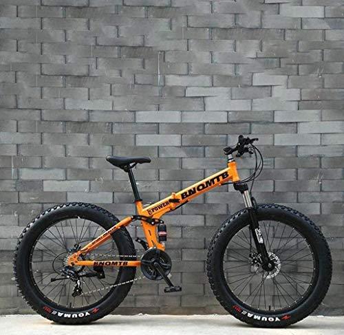 MYPNB BMX Fat Tire Bicicletas de montaña de Adulto, Bicicletas Doble Freno de Disco/Crucero, Playa de Motos de Nieve Bicicletas, 24 Pulgadas de aleación de Aluminio de Ruedas 5-25