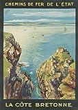 Unbekannt Poster Bretagne Cote Bretonische Reproduktion,