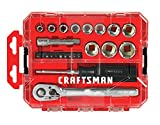 CRAFTSMAN Socket Set, Nano SAE, 3/8-Inch Drive, 24-Piece (CMMT12012)