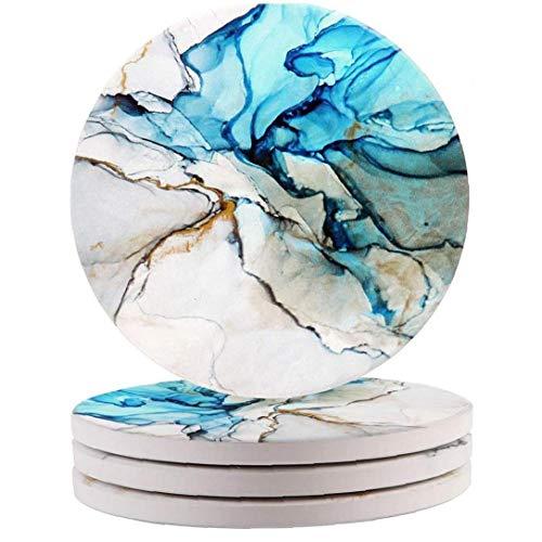 MICHAELA BLAKE Coaster cerámica de Aislamiento térmico Ronda Posavasos Antideslizante de la...