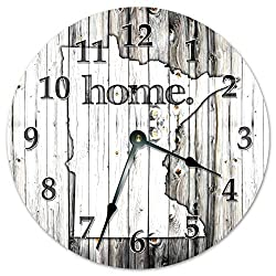 Sugar Vine Art Minnesota State Silent Non Ticking Round Battery Operated Handmade Hanging Large10.5 Inch Wall Clock for Bedroom Office Cottage Decoration