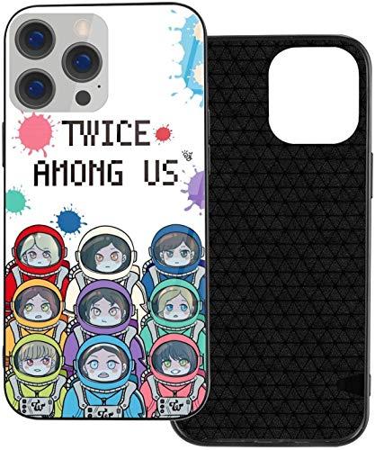 Twice Among Us iPhone 12 Pro Max, funda protectora delgada de TPU y Galss compatible con iPhone 12 Pro/iPhone 12/iPhone 12 Mini/iPhone 12 Pro Max