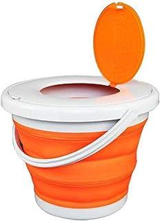 Seau pliant portable lavabo pliant voyage seau pliant extérieur avec couvercle seau pliable-conteneur d'eau pliable portab...