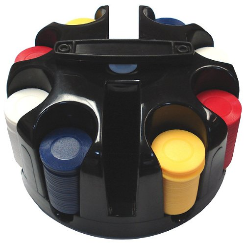 200 Chip Rotating Carousel w/ Handle & Poker Chips
