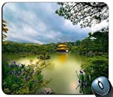 Goldener Pavillon Tempel Kyoto Japan See Bäume Blumen Park Mauspad Anti-Rutsch-Desktop-Mauspad Gaming-Mauspad