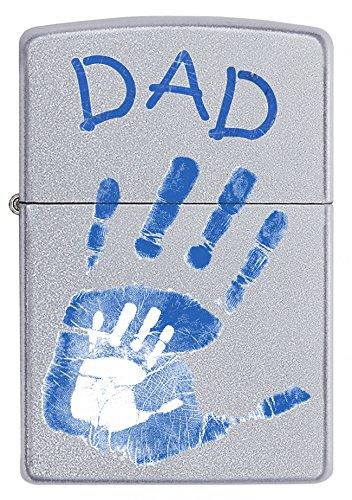 Zippo Dad Mains Coupe-Vent léger – Chrome satiné