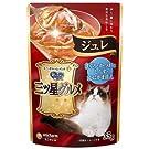 【32袋セット】 銀のスプーン 三ツ星グルメ 猫用 パウチ ジュレ まぐろ・かつおにしらす・かにかま添え (35g×8袋入) × 4個 (計32袋)