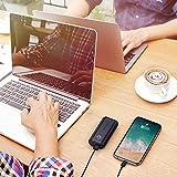 POWERADD Powerbank EnergyCell 10000mAh Mini Externer Akku USB Power Bank Kompaktes Leichtes Tragbares Ladegerät für Handy, iPhone iPad Samsung Galaxy Huawei und Andere Smartphones-Schwarz - 9