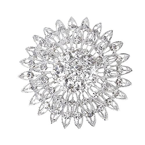 Naisicatar Joyas Broche De Novia Broche del Rhinestone Pin De del Arte Moda De La Boda Decoración De Cristal Mujeres Grils