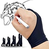 Lamonde Artist's Glove, Palm Rejection Glove for iPad, Sketching, Drawing Tablet Gloves for Right Left Handed, Small -2 PCS