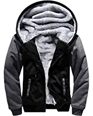 Shell: Cotton,Polyester; Lining: Fur Fleece;Provides better insulation and extra down-like warmth. Made from high quality extra soft cotton fleece lining for more warmth and comfort , help block out cold and chill Feature:Moisture-wicking fleece swea...