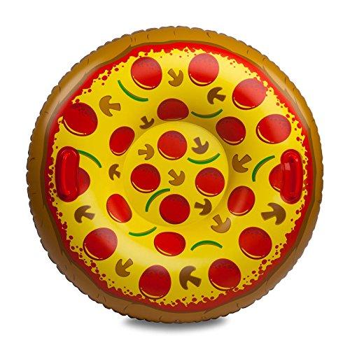 XXL Pizza Snow Tube - Pizza Salami Rutschreifen Salami Pizza Schneereifen Pilze Schnee Reifen