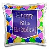 3dRose Luftballons mit Lila Banner Happy 80.